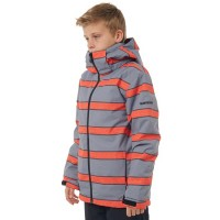 Quiksilver Mission Printed Youth Jkt (Mandarin Red)