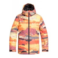 Quiksilver Mission Printed Youth jkt (Barn Red Matte Painting) - 20