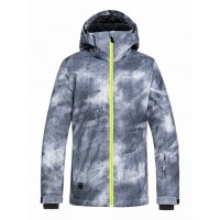 Quiksilver Mission Youth Jkt (Grey Simple Texture-KPG2-19)