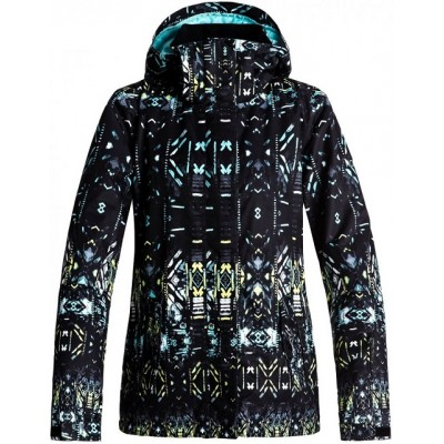 Roxy Jetty Jkt (True Black Haveli Ikat - KVJ8)