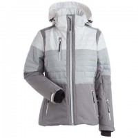 Nils Beth ladies jkt (White/ Steel Grey-18)
